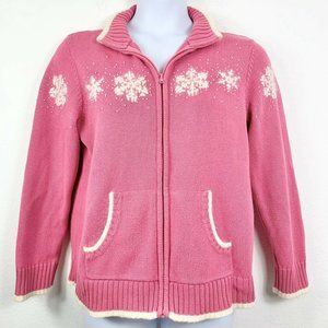Quacker Factory Large Sweater Snowflake Holiday